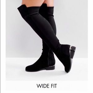 Over the knee wide feet boots